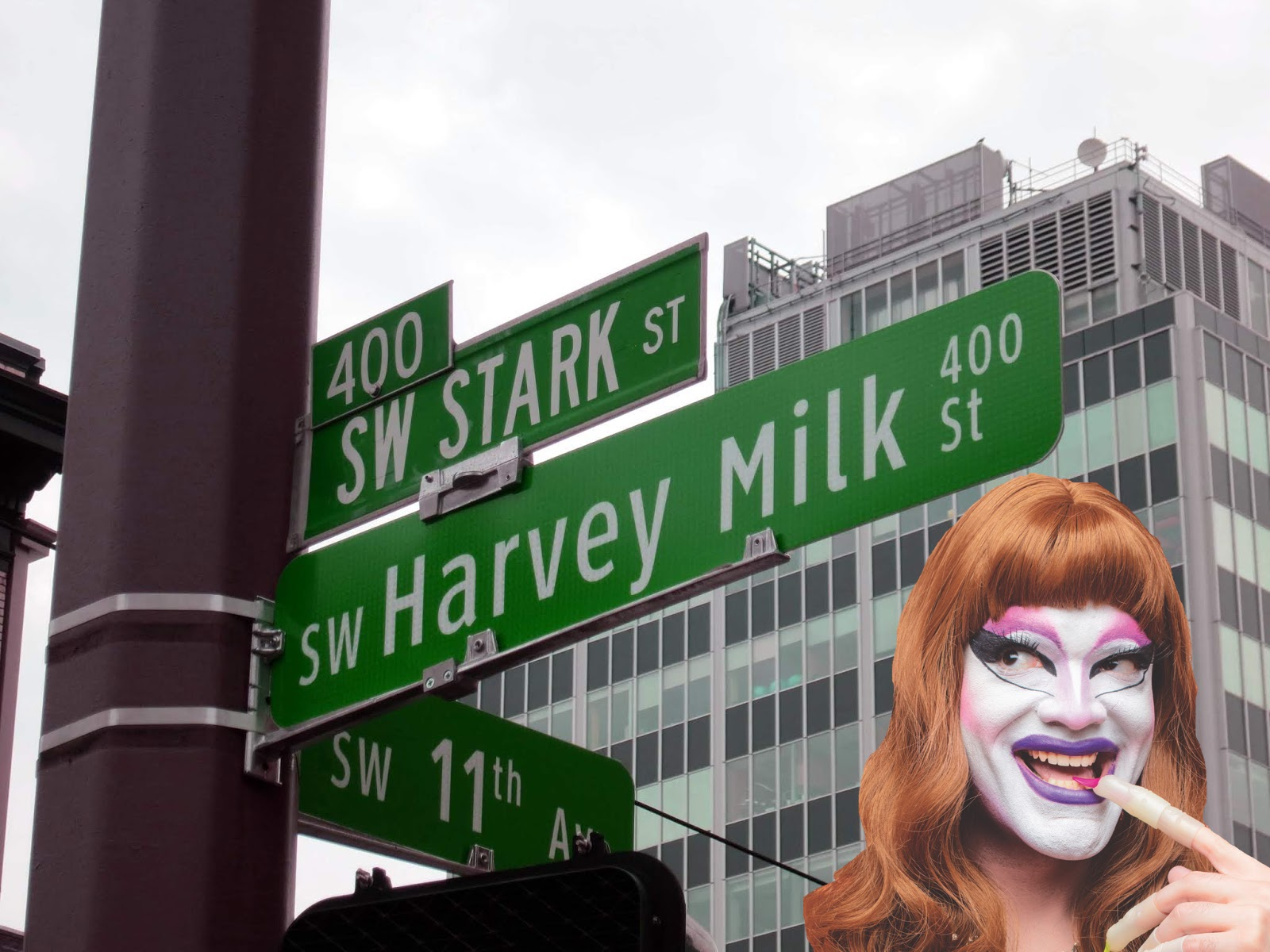 See Anthony / Carla's  Alternate Options for Harvey Milk Street  at the Disjecta Portland2019 Biennial this summer through fall, and take part in their  Requiem for Vaseline Alley  public performance beginning at 6:15 PM on Saturday, October 19th and meeting at SW 10th and SW Stark / Harvey Milk Street!