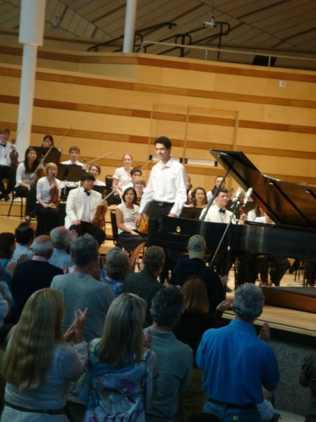 Standing ovation after Rachmaninoff's second piano concerto at the Aspen Music Festival