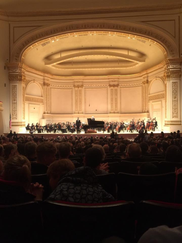 Taking a bow after performing Bartok's 3rd piano concerto with Maestro David Robertson and the Juilliard orchestra in Carnegie Hall