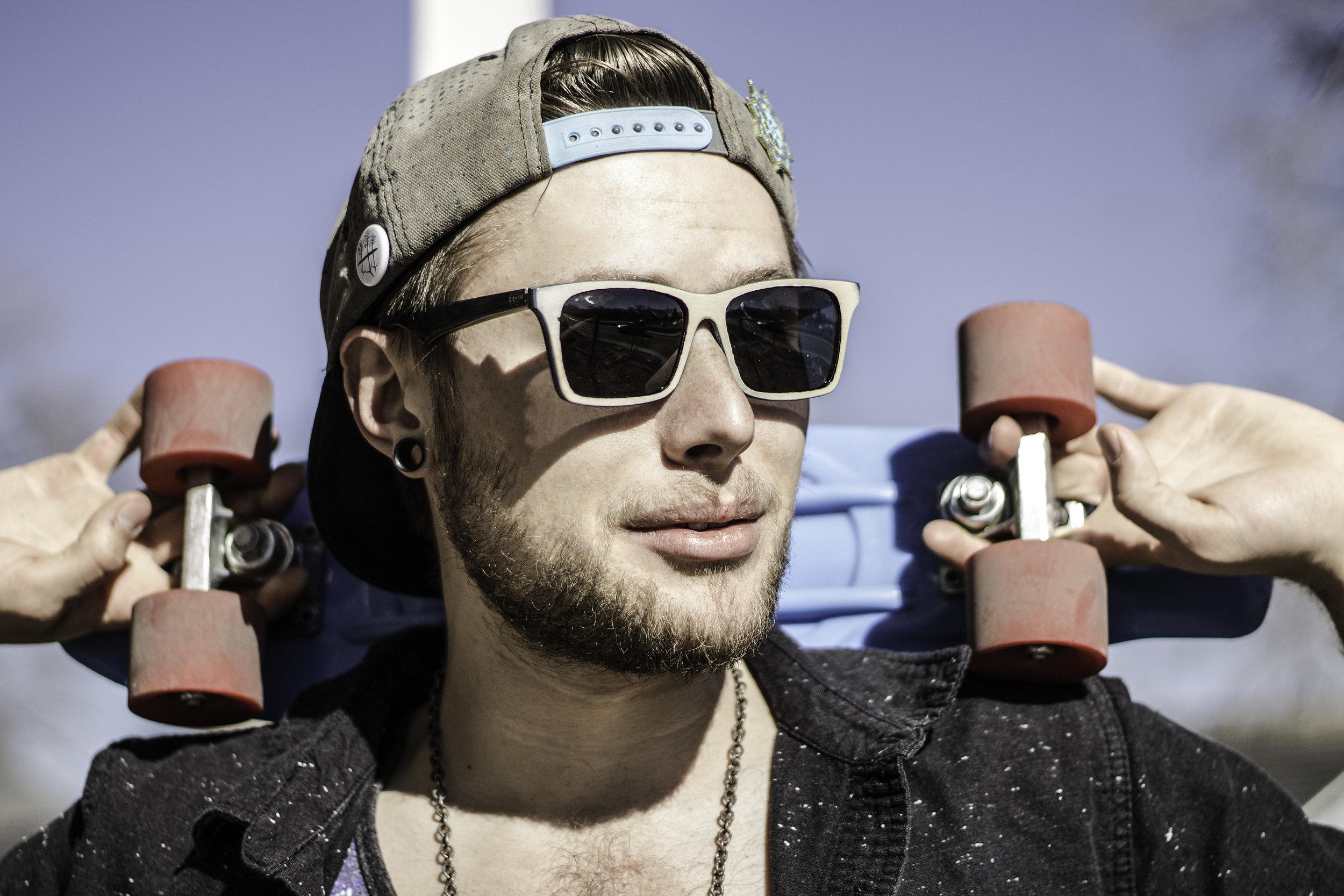 Skater Wearing SK8Glasses™