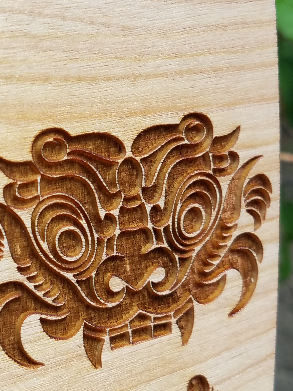 Engraving Closeup