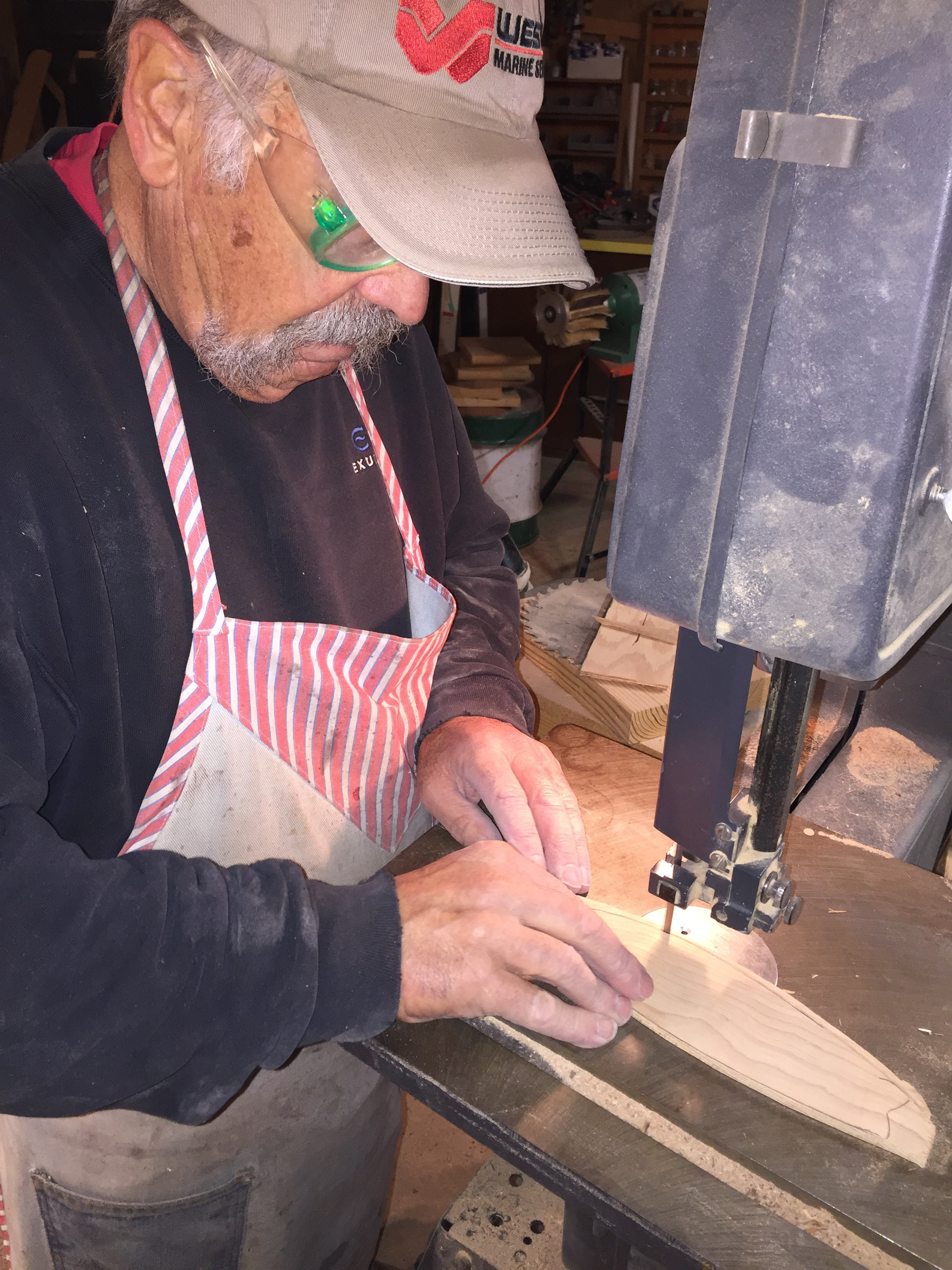 Dennis Working with Precision Saw