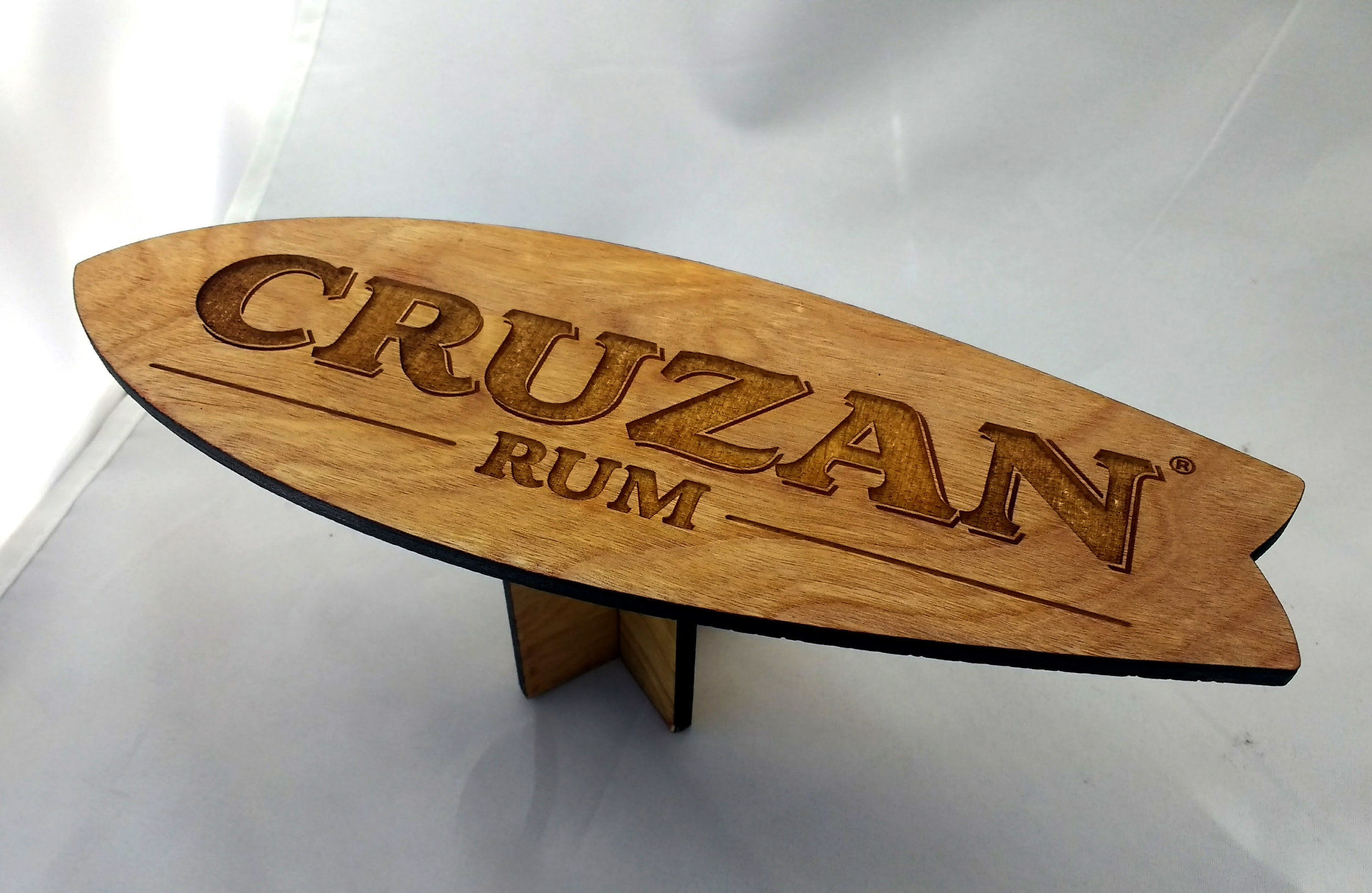 Cruzan Rum Mini Surfboard Table