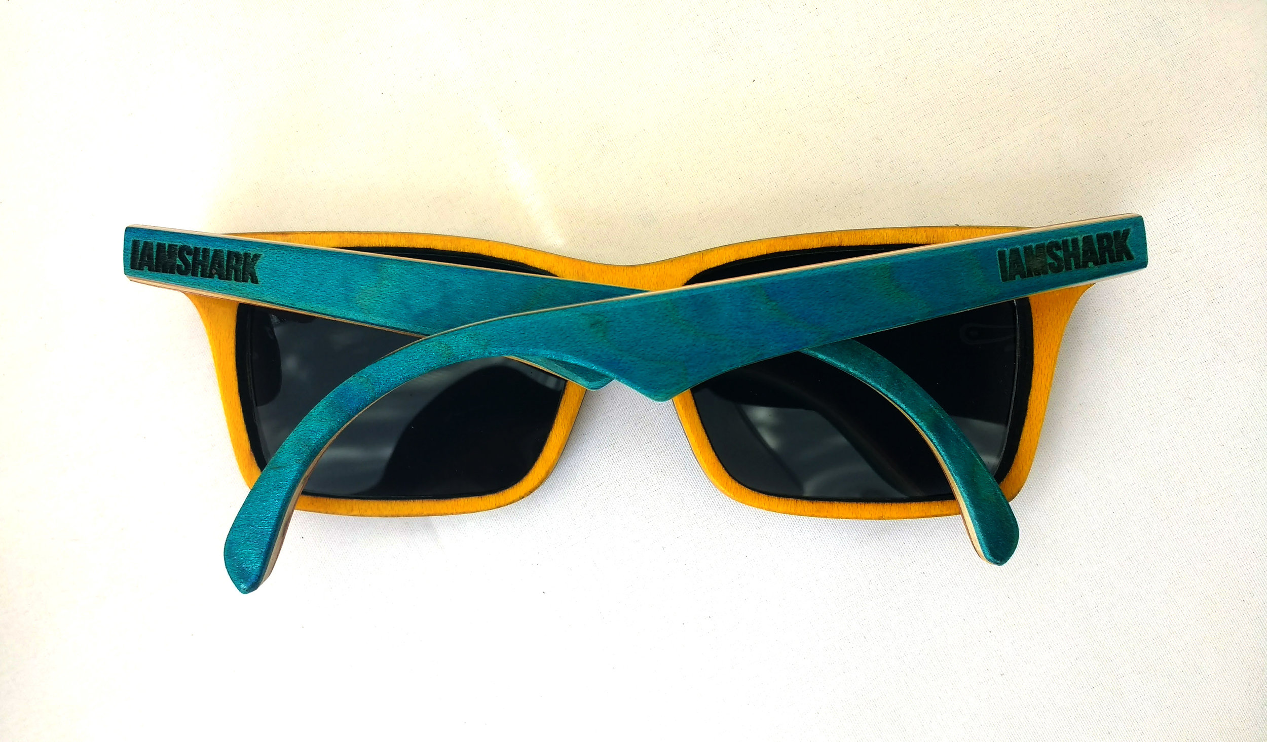 Blue and Yellow Acer SK8Glasses™ with logo