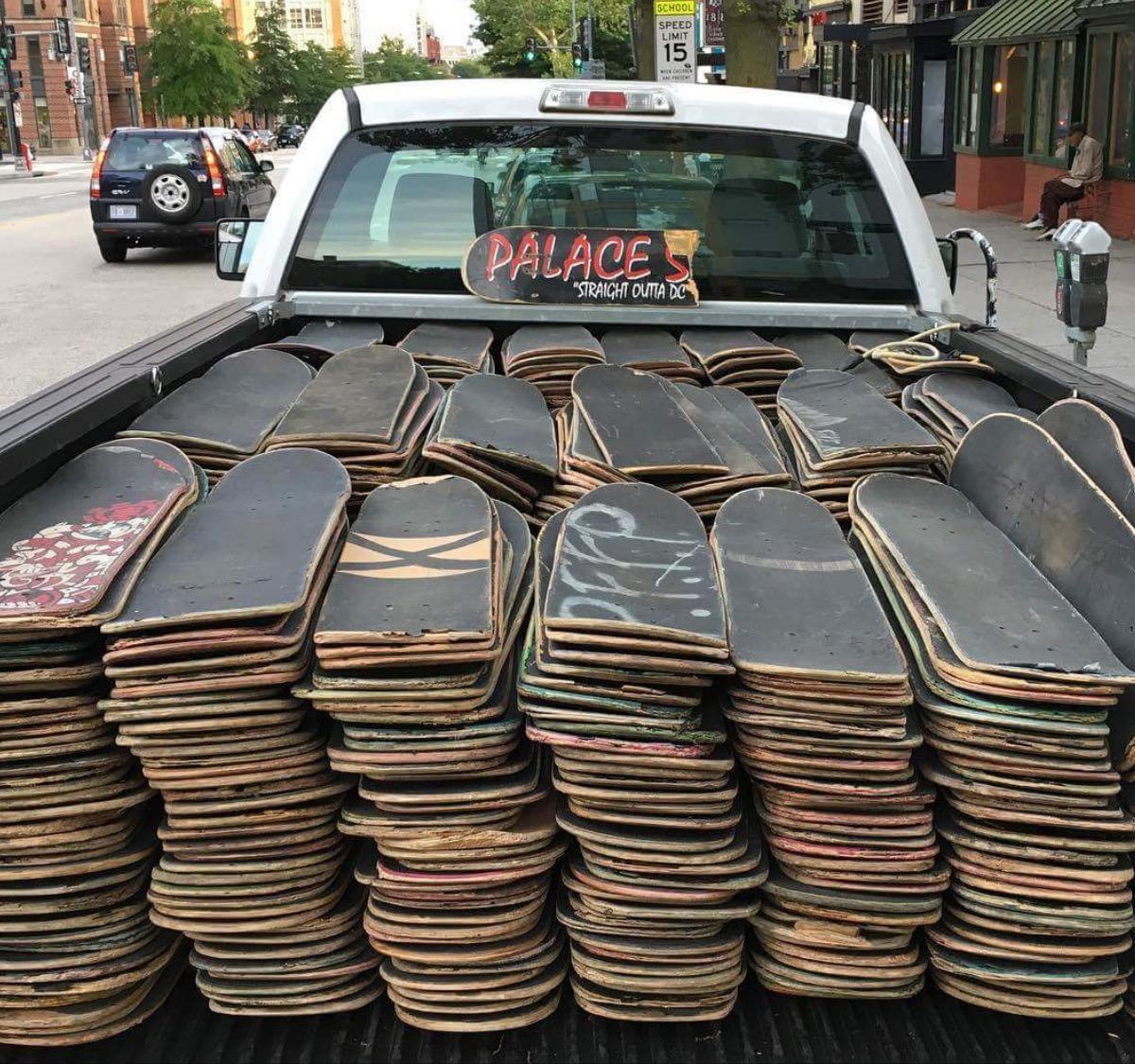 Broken Skateboard Decks