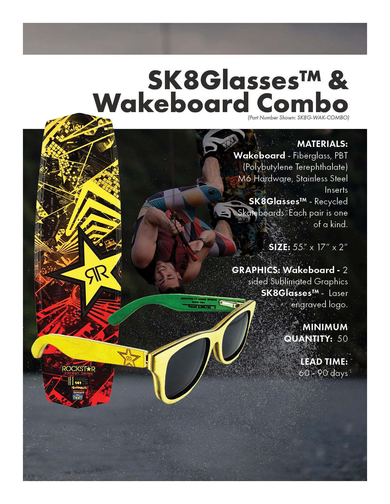 SK8Glasses & Wakeboard Combo