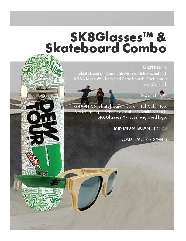 SK8Glasses & Skateboard Combo