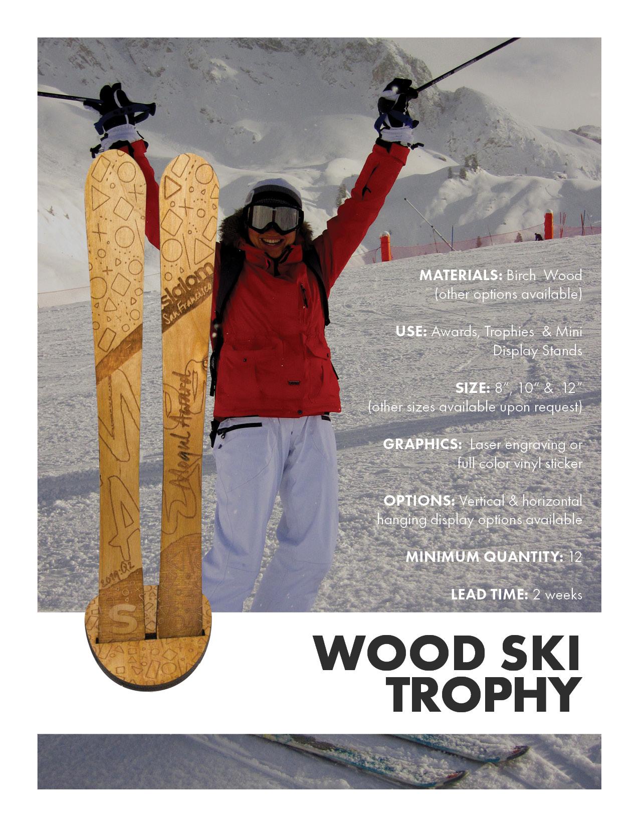 Wood Ski Trophy