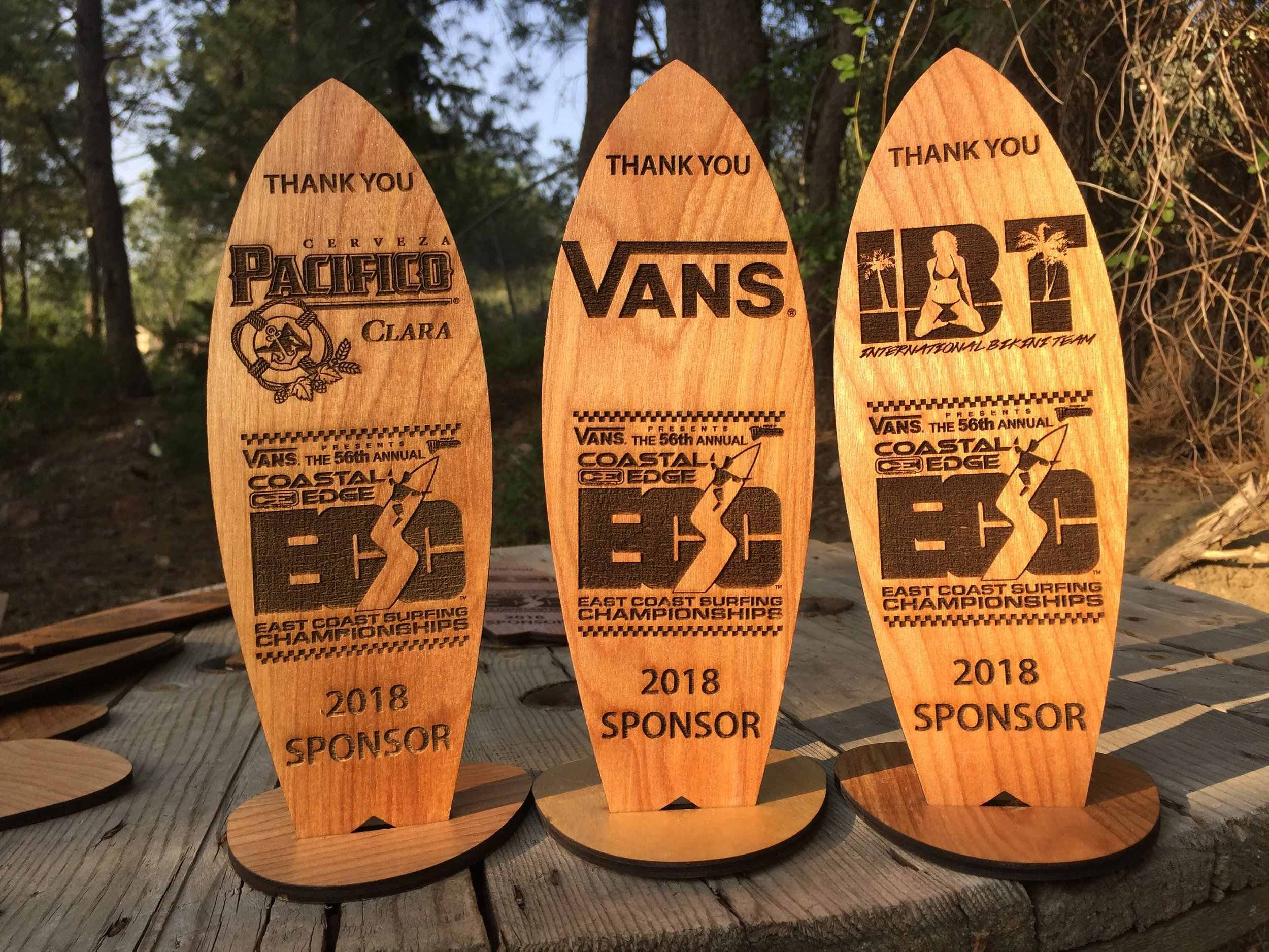 Wooden Surfboards Trophies & Awards