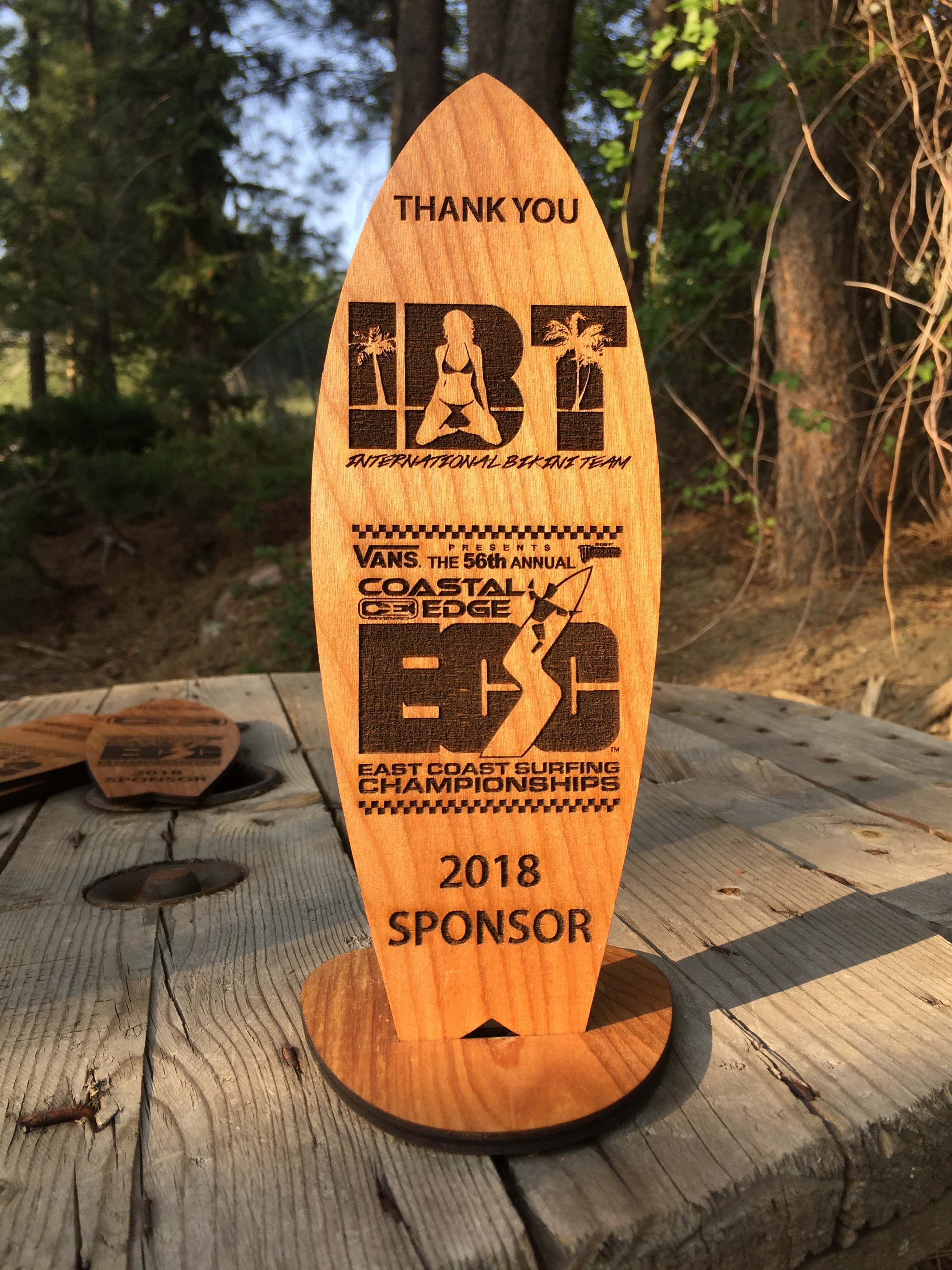 Wooden Surfboard Trophies & Awards