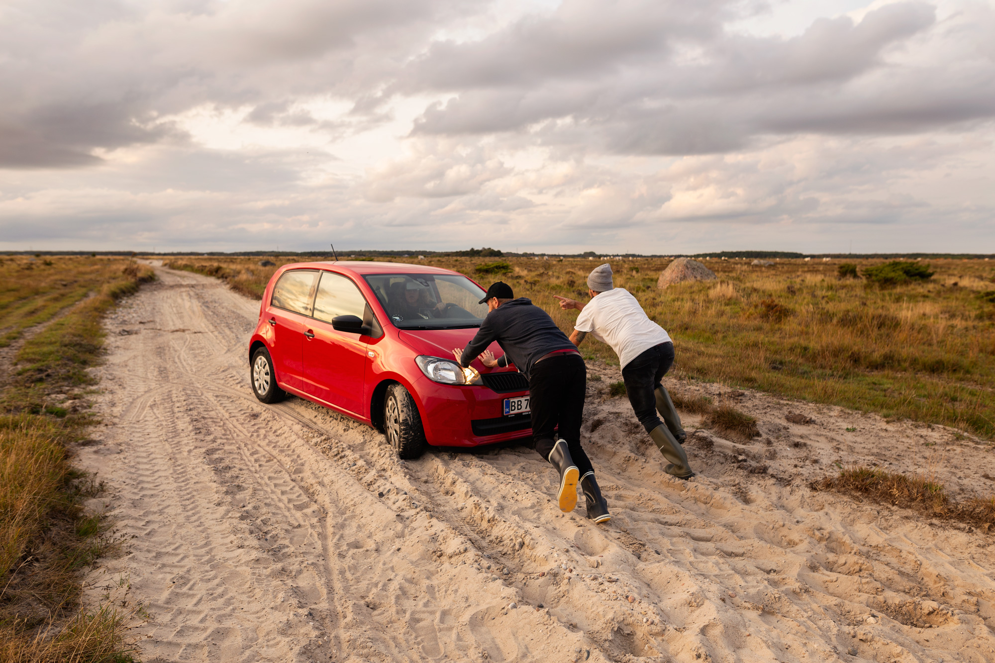 Sand road plus small car..what could go wrong?