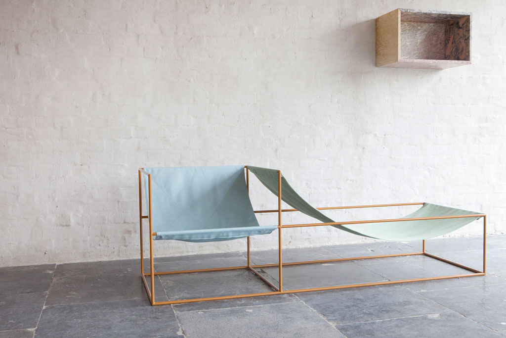 seat bleu/green by Muller van Severen