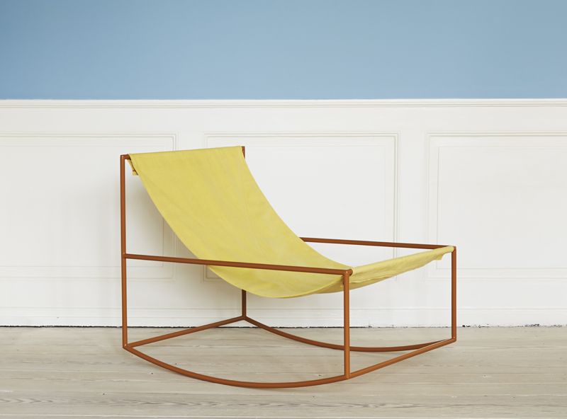 first rocking chair by  muller van severen