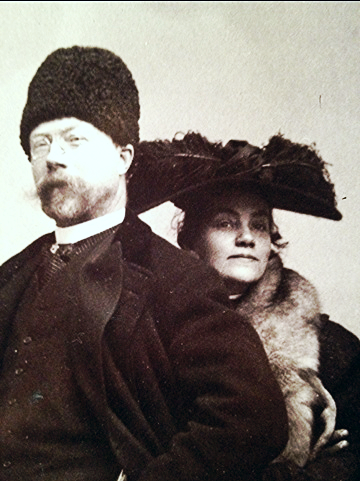 Karin Pictured here with her husband, Carl Larsson