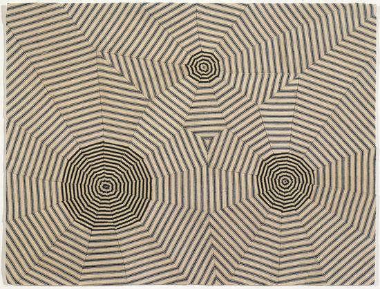 "Louise Bourgeois ,    Untitled  , 2005,   Fabric, 16"" x 21"""