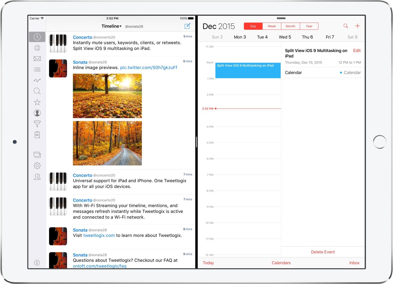 Split View Multitasking on iPad Pro