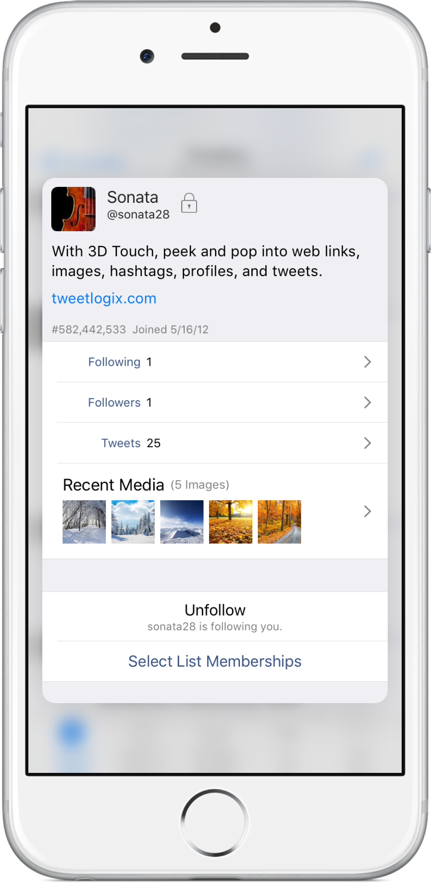 3D Touch on iPhone 6s