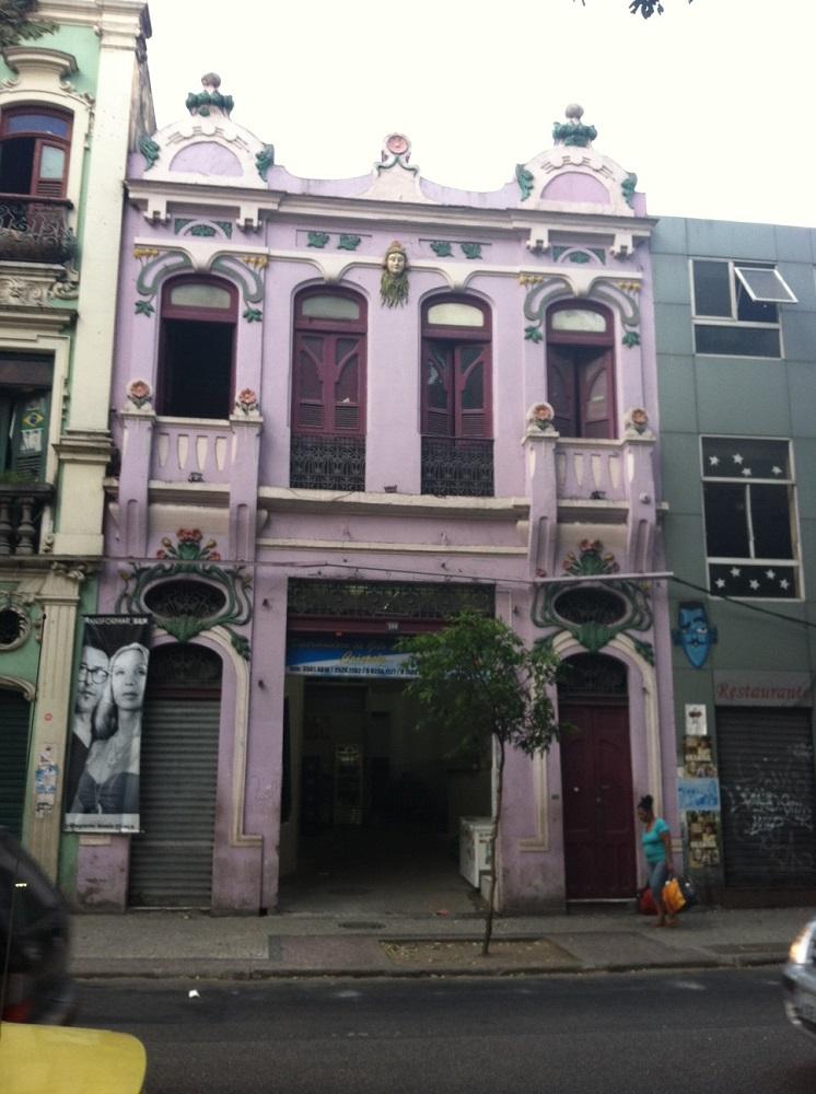 Funky purple building in Lapa
