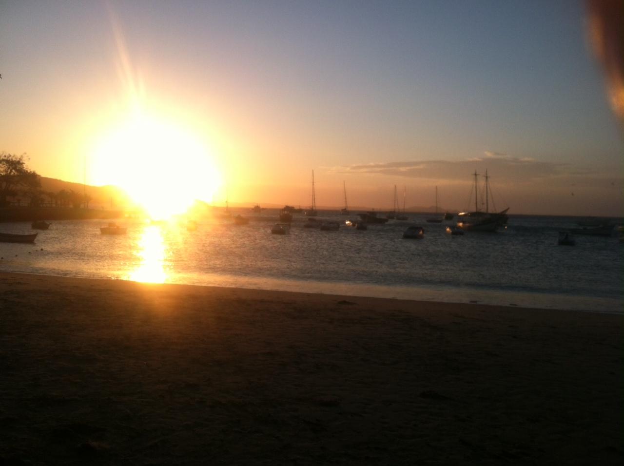 Sunset over a cove, farewell Buzios