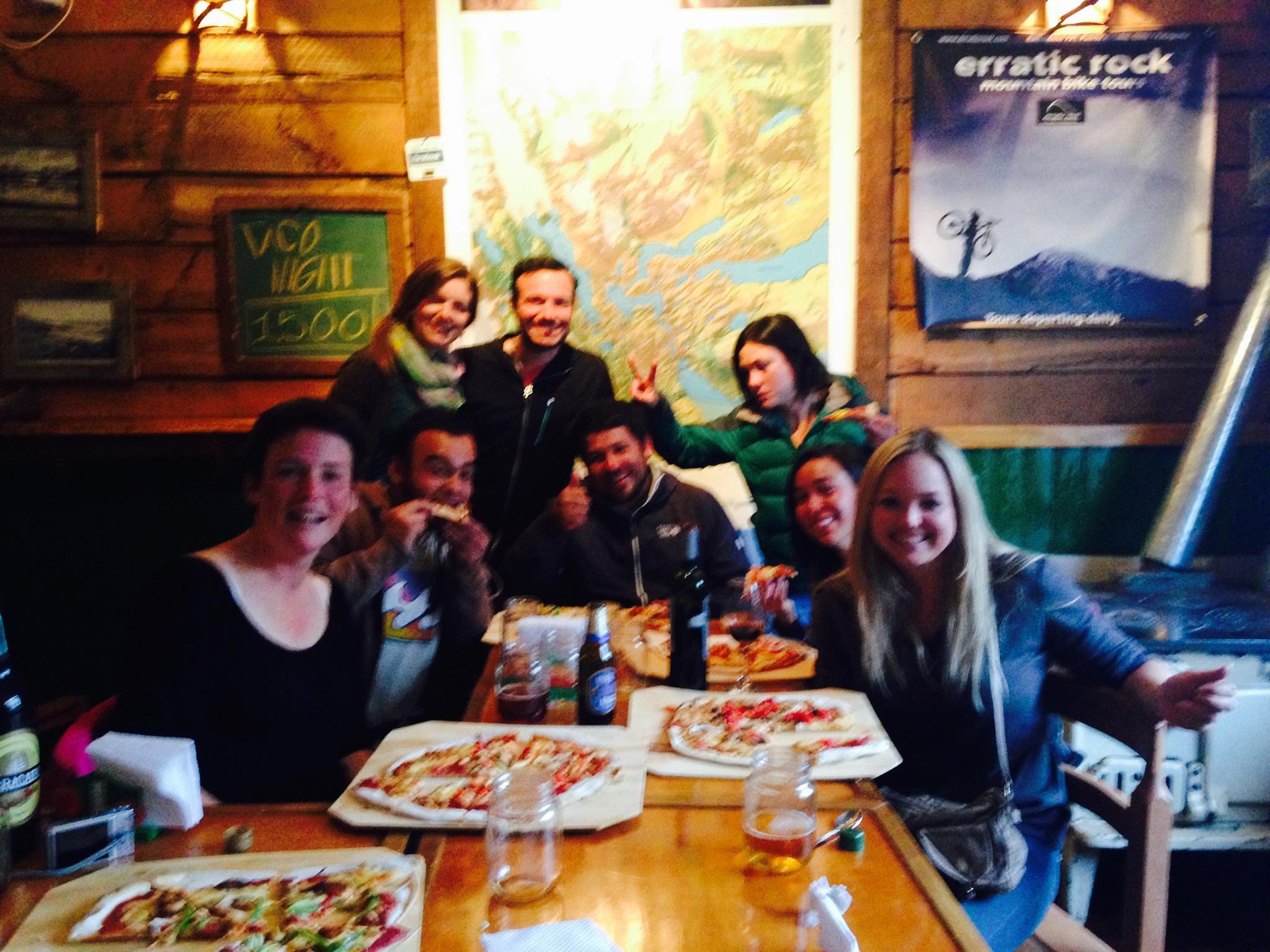 Pizza party at Base Camp!