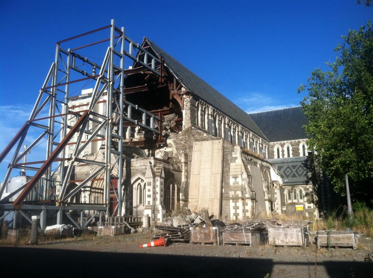 ChristChurch Cathedral, in ruins