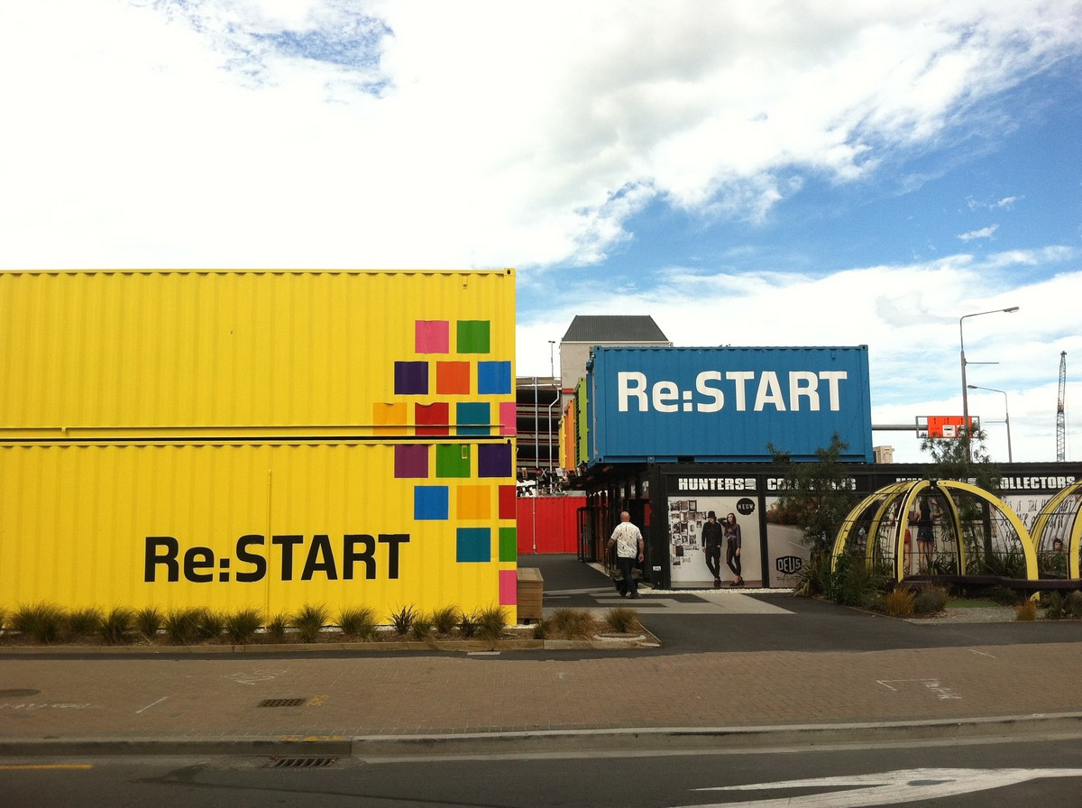 Restart Mall, made from shipping containers