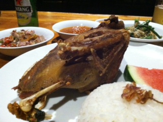 Bebek Bengil, or crispy duck!