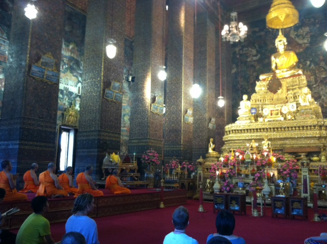 Monks chanting - so lucky to have quietly observed this ceremony!
