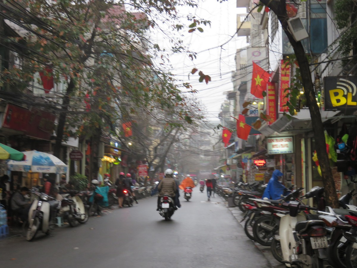 Hanoi streetscape... get your poncho!