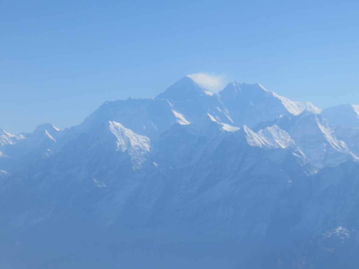 Everest off in the distance.