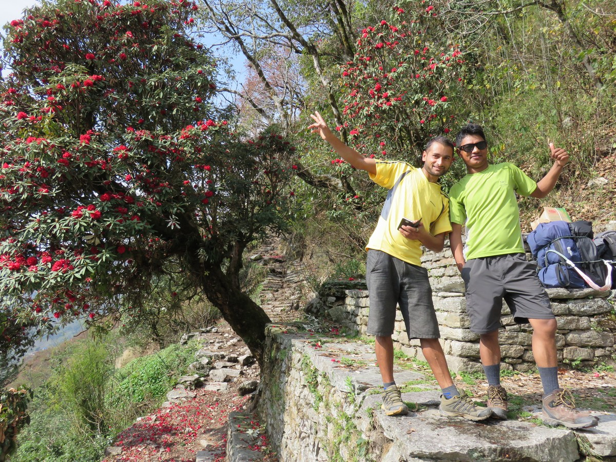 Our goofy guides Nikhil and Narendra