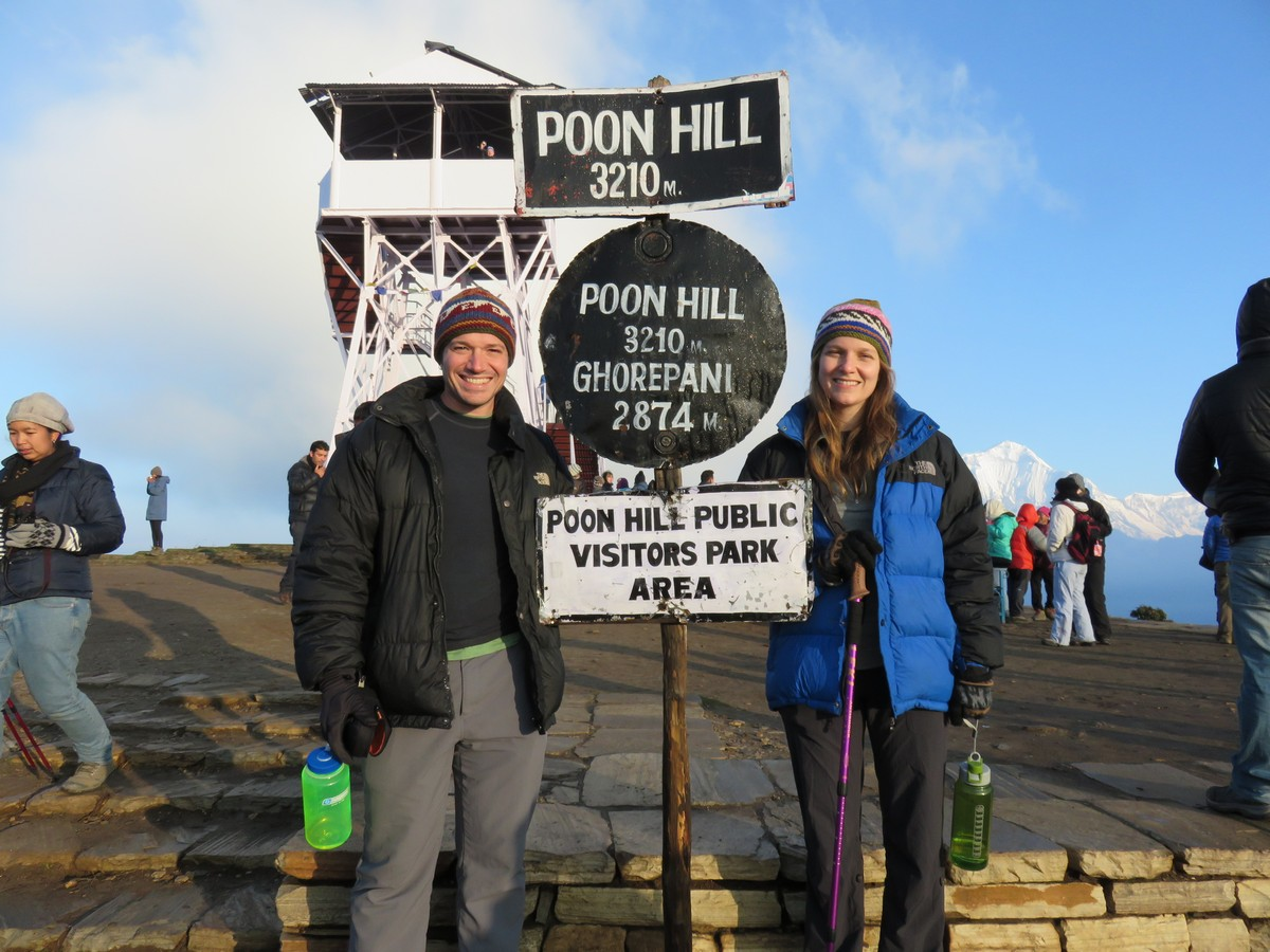It was early....and hard...but we both made it to Poon Hill for sunrise