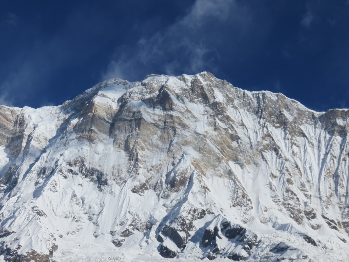 Annapurna I. 10th highest mountain in the world.
