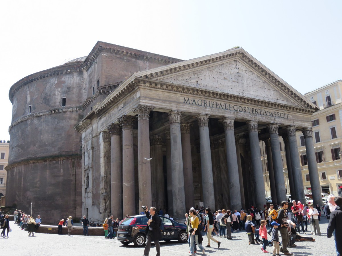 Dwarfed by the Pantheon!