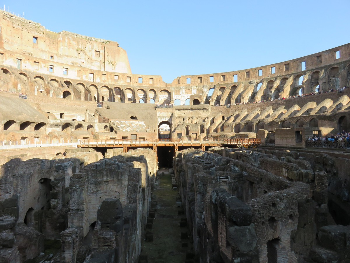 The interior of the Colosseum... breathtaking!
