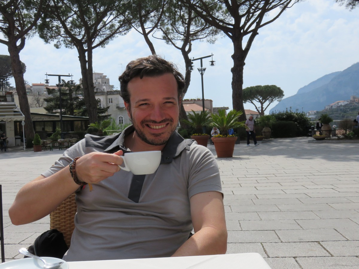 Cappuccino Cristoforo in the Ravello town square