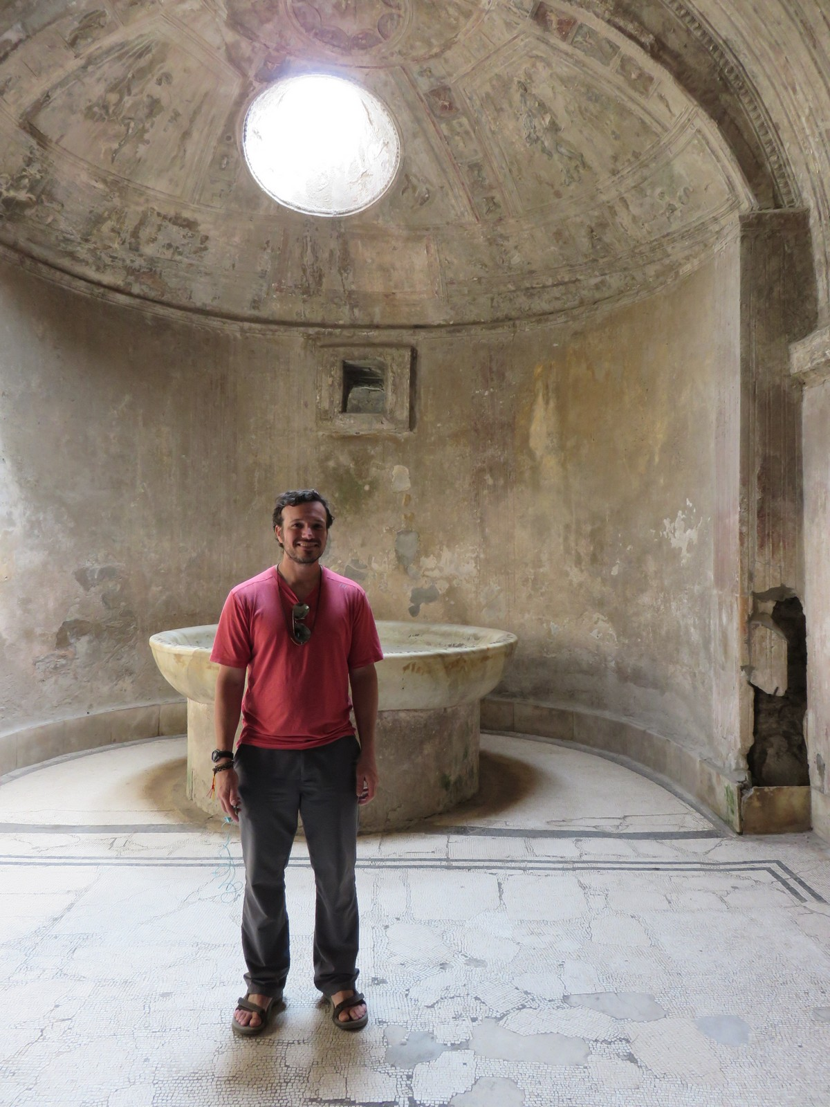 Chris in a real Roman bath!