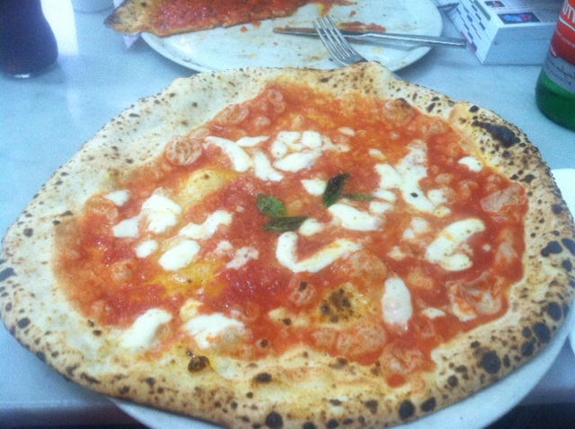 Da Michele Pizza... regular Margherita. The Doppia Mozzarella was twice as nice.