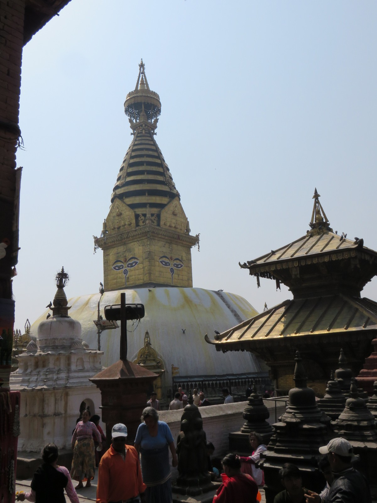 "Swayambhunath stupa, a.k.a. ""monkey temple"", March 26, 2015"