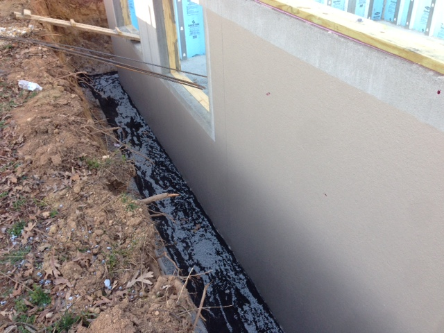Non-Woven filter fabric has been placed above the gravel.