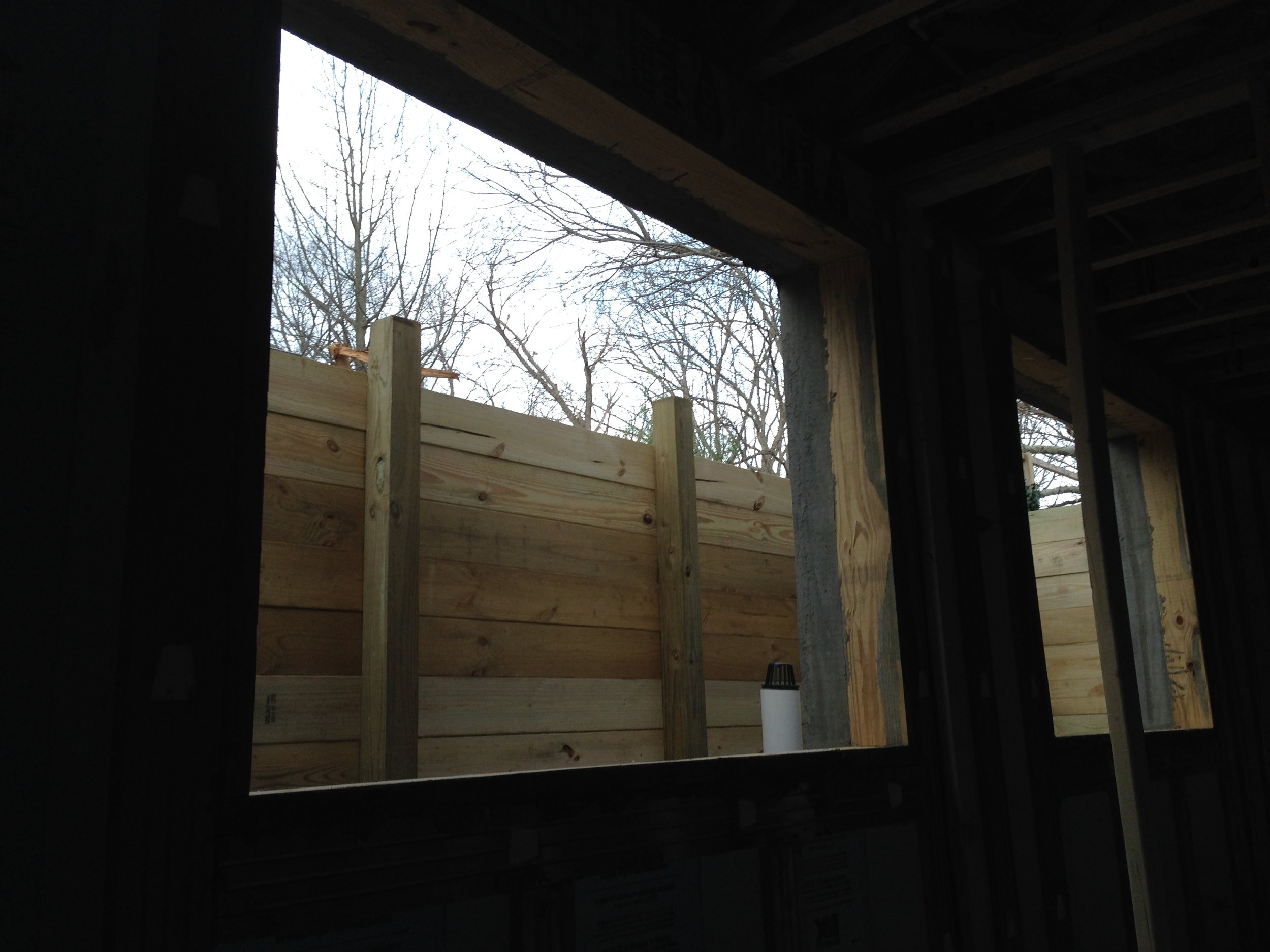View from basement bedroom.This is going have a nice view when all said and done.