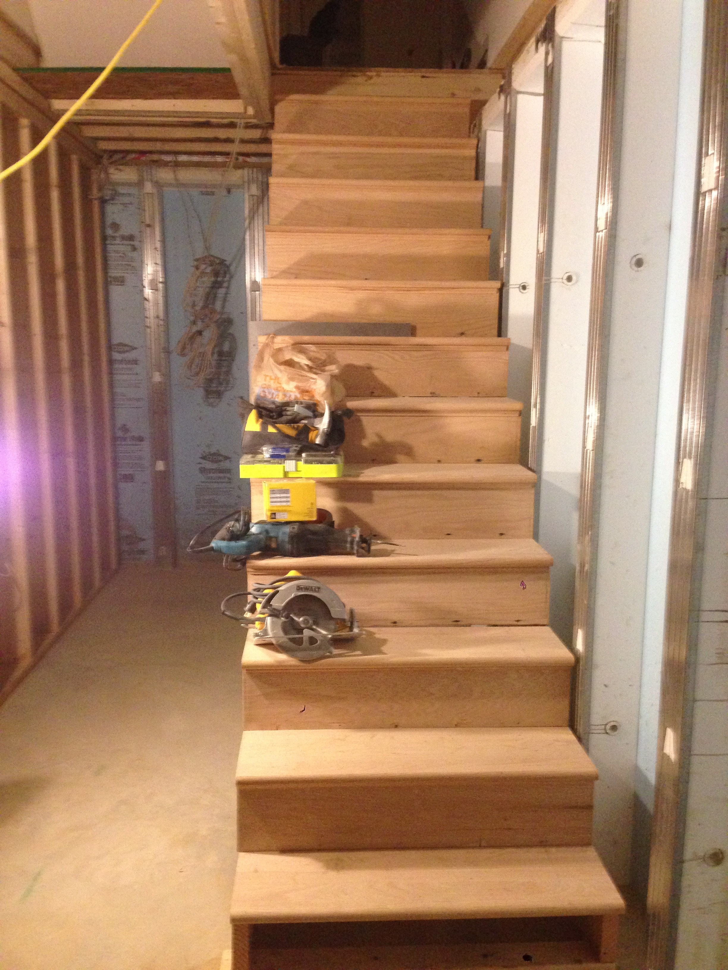 23:10 Stairs complete. More to do but there are finally stairs to the basement.