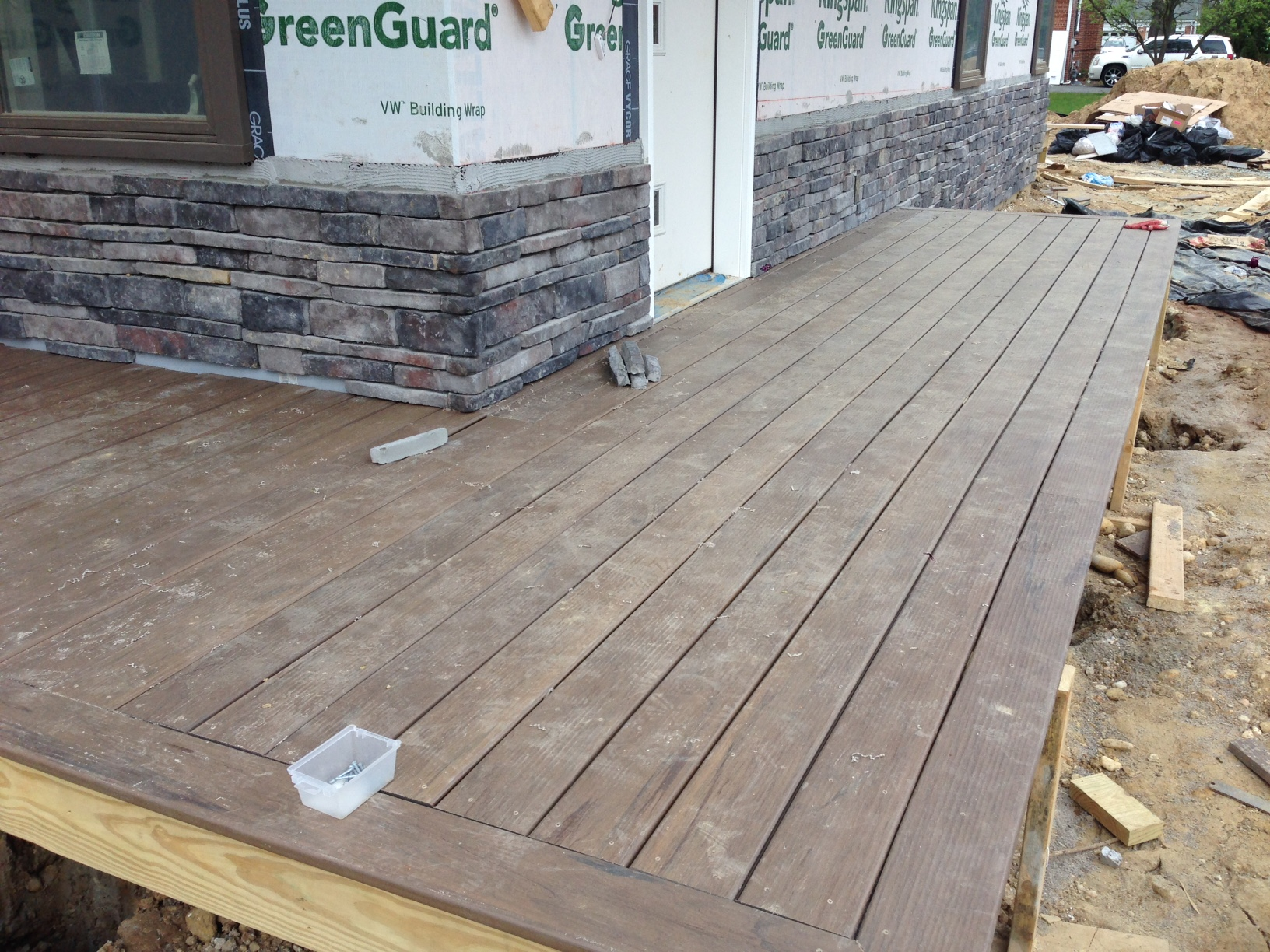 Finally a proper entrance to the house. We used a composite deck from Timbertech.