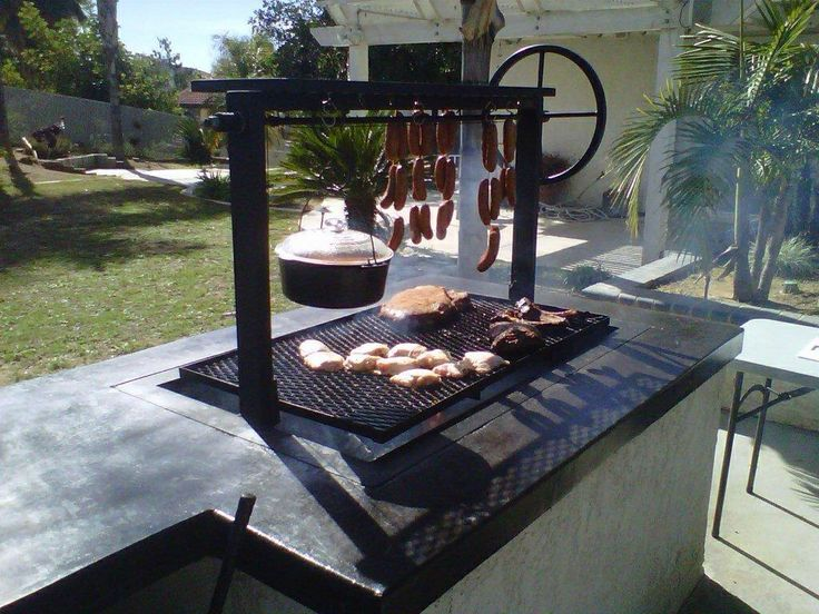 It will be more like this. A barbecue has to have wood or coal or something other than gas. That is where the flavor comes from. This looks good. I'm off to go eat meet.