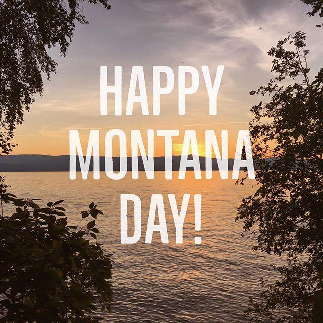Happy Montana Day! (4|06) . . . #406 #montana #flathead #flatheadlake #upperleftusa #montanaday #sunset #lakesunset