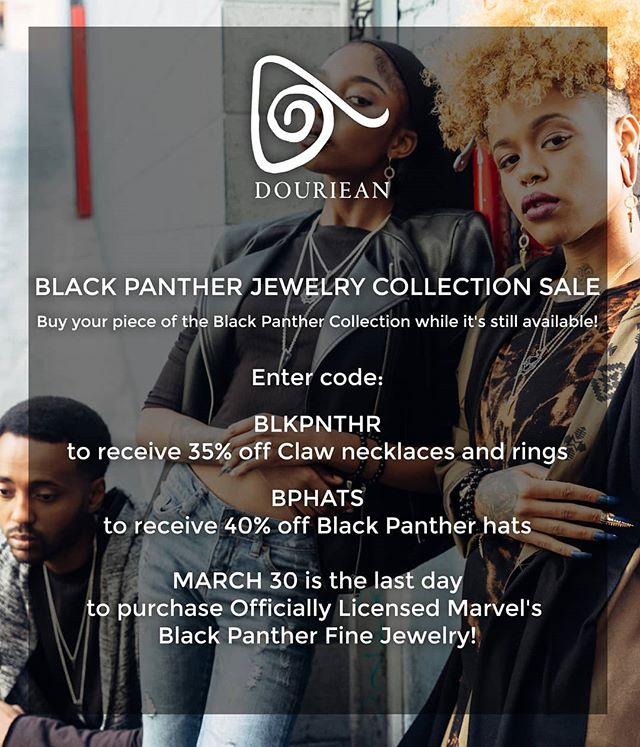 Here's your last chance to get your Black Panther Jewelry which technically makes it a collectible! The collection will be discontinued March 30!!