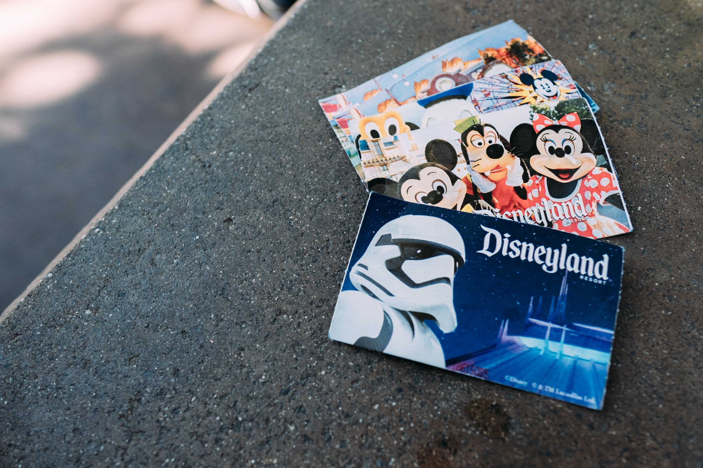 picture of physical disneyland tickets