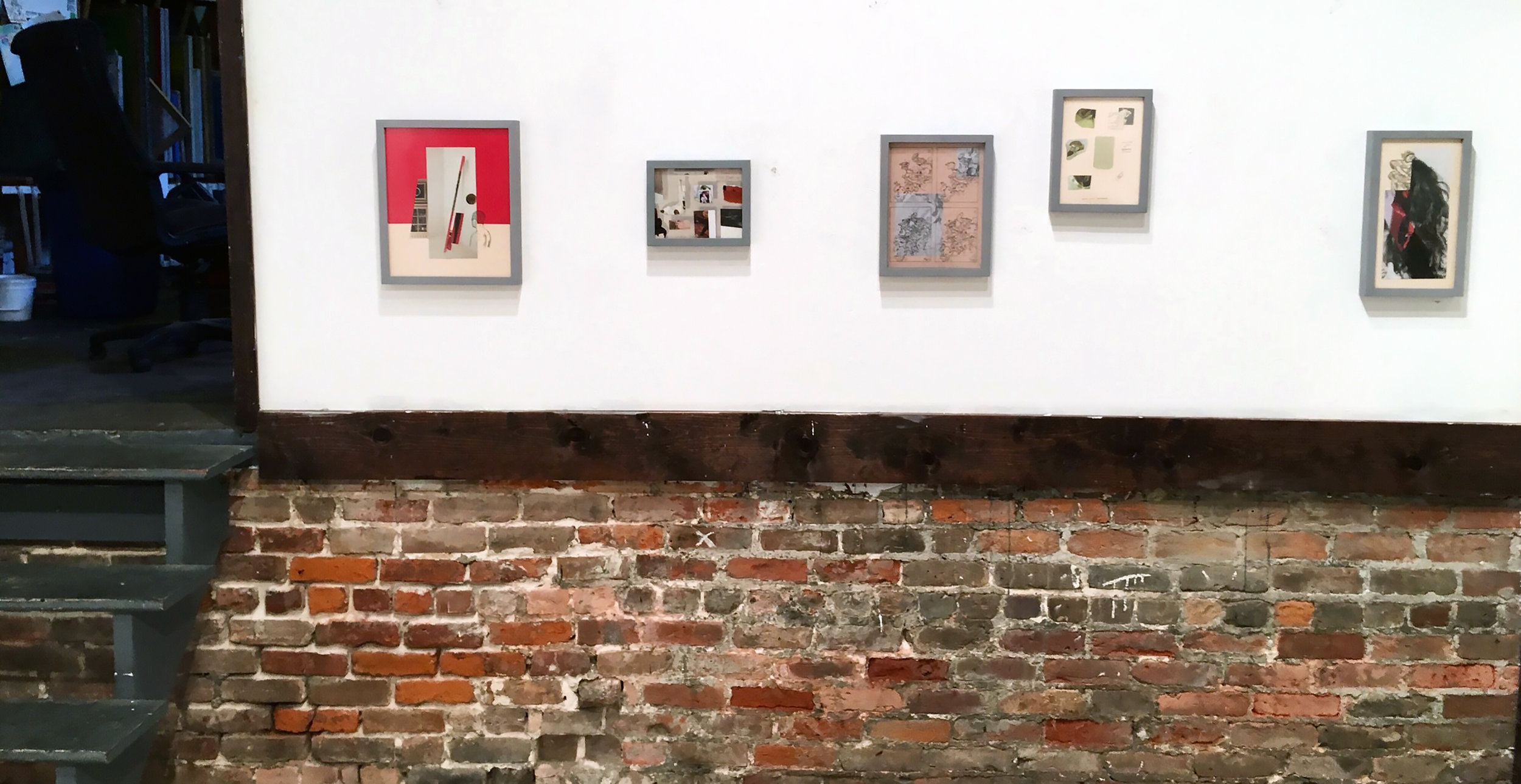 """Installation from """"Eidetic"""" at Community Printshop Gallery,New Orleans.2017."""