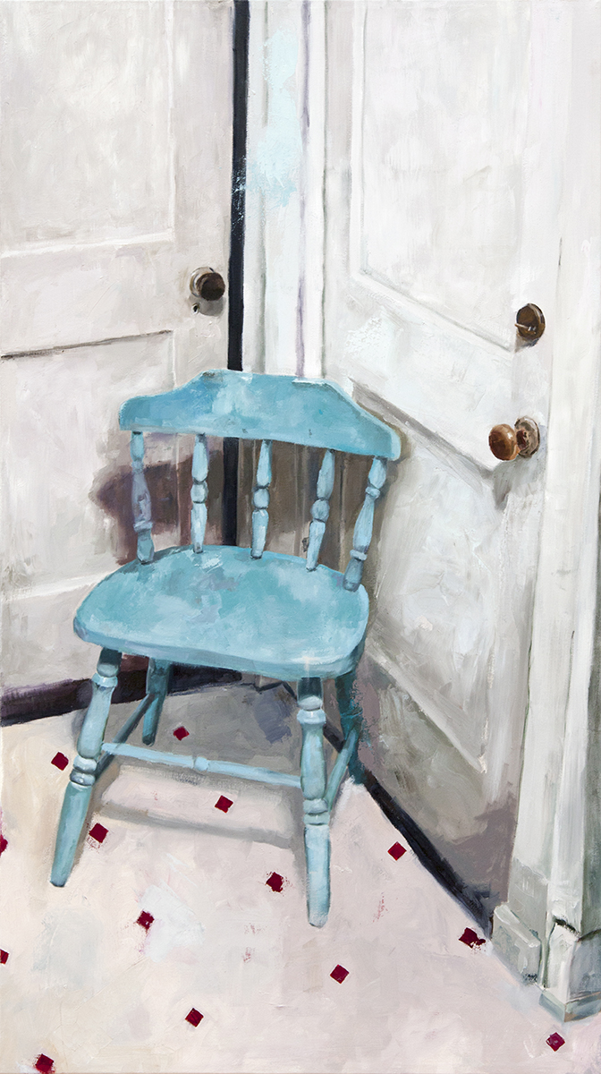 Portrait of a Blue Chair