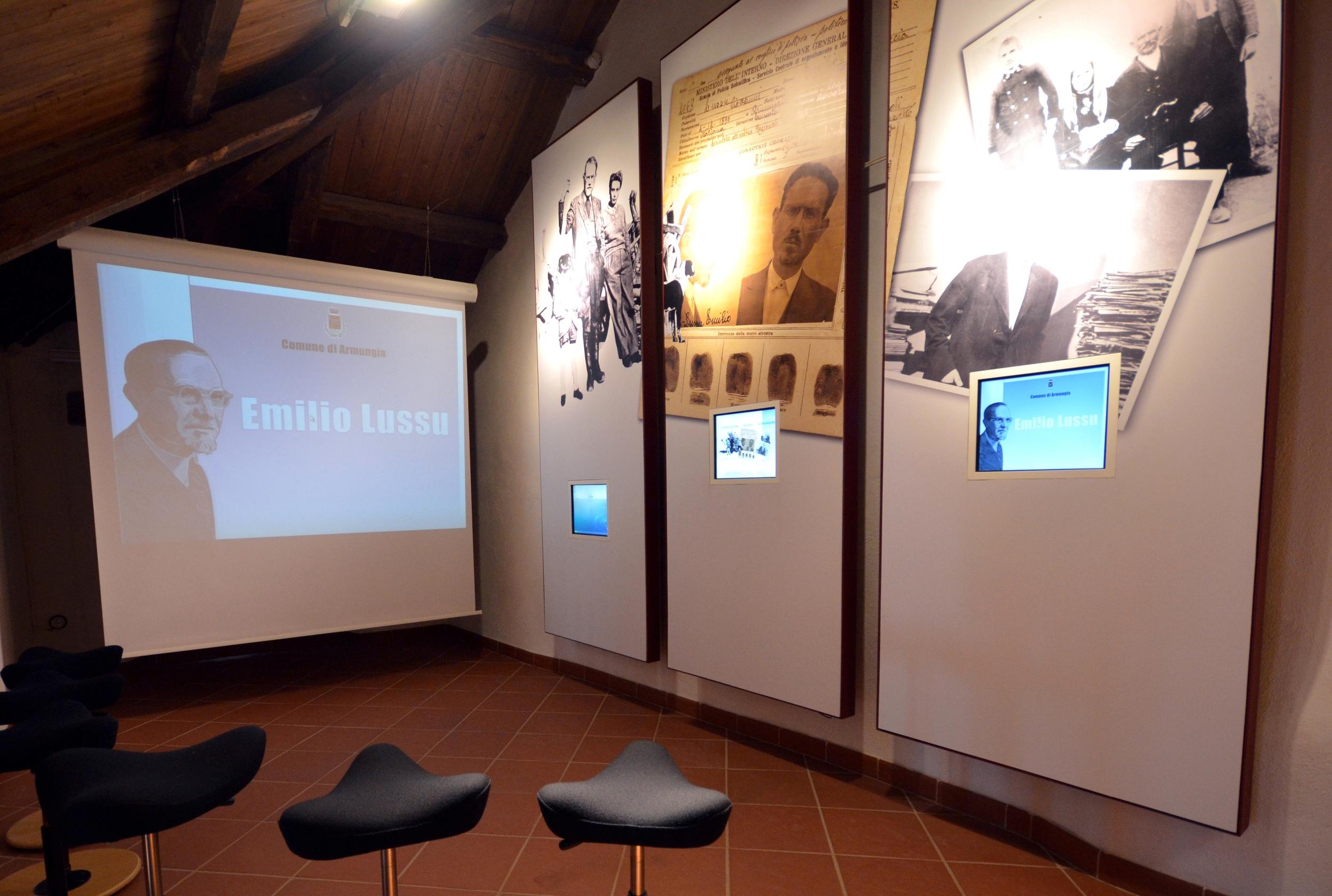 Museo Lussu. Sala multimediale.JPG
